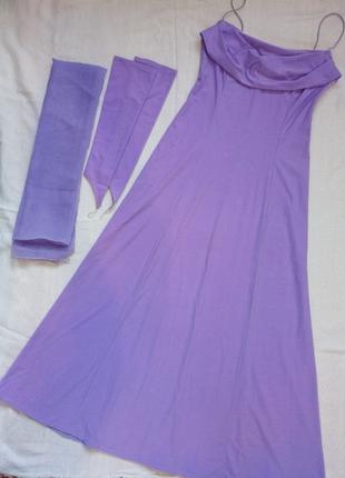 Платье нарядное с митенками и палантином
