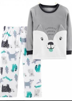 Флисовая пижама 3т картерс
