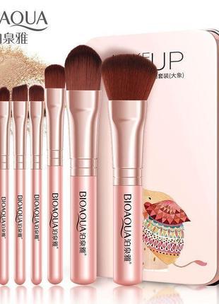 Набор кистей для макияжа bioaqua 7шт розовый