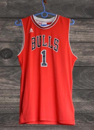 Баскетбольная майка adidas chicago bulls | rose, (р. 176 см)