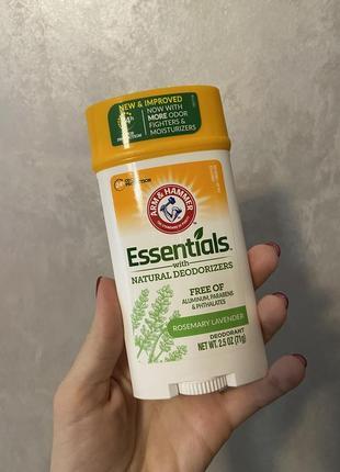 Arm& hummer, essentials з натуральними компонетками,дезодорант.