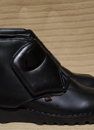 """Для поклонников """"звездных войн"""" - фирменные черные кожаные ботинки kickers star wars 44 р."""