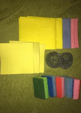 Салфетки тряпки для уборки набор