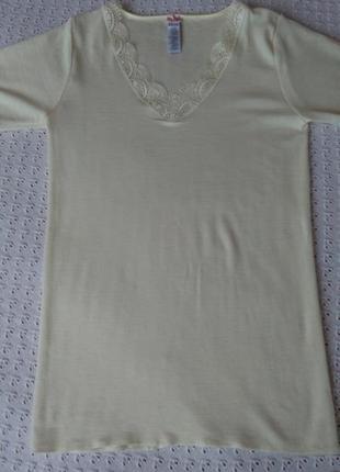 Термо футболка з мериносової шерсті термобілизна поддева термо термобелье шерстяное