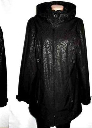 Пальто плащ куртка капюшон из водоотталкивающей непродуваемой ткани calvin klein м