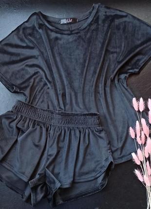 Бархатная пижама костюм для дома