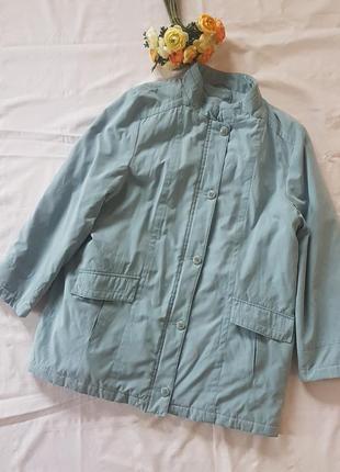 Куртка удлиненная пальто прямой крой демисезон