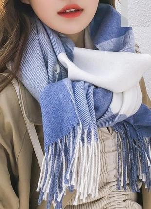 Стильний теплий шарф, накидка, палантин, платок 752