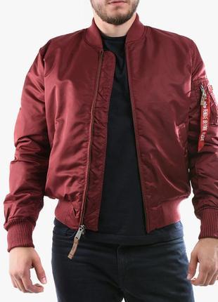 Куртка- бомбер с последней коллекции alpha industries ® ma-1 flight jacket, maroon