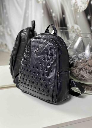 Рюкзак из кусочков натуральной кожи