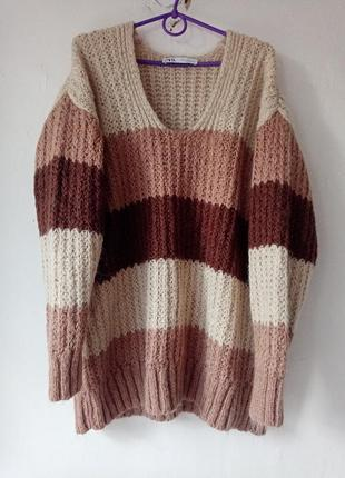 Zara кофта свитер пуловер 36 38 40 m l s,
