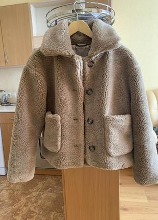 Шубка тедди шуба плюшевая куртка эко мех меховая шубка куртка из овчины