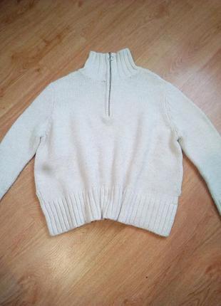 Тёплый свитер оверсайз на молнии zara.