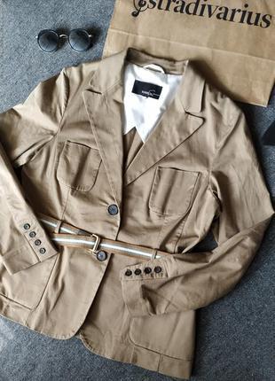 Пиджак под пояс с карманами mango
