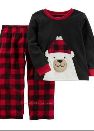 Флисовая теплая пижама картерс 3т
