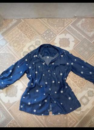 Рубашка джынсовая