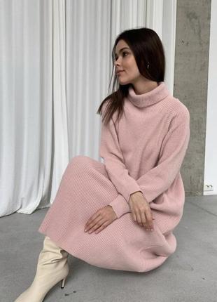Идеальное длинное тёплое платье хлопок шерсть плаття вовна бавовна