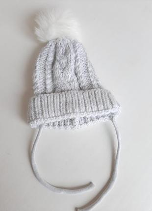 Весенняя шапка шапочка на 2-4года