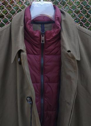 Утепленный плащ пальто bugatti