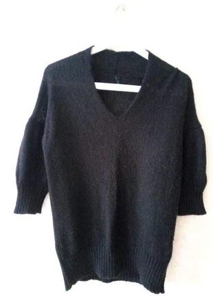 Тёплый свитерок с коротким рукавом