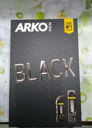 Набор arko men гель для бритья аrko black 200 мл + гель для душа аrko black 260 мл