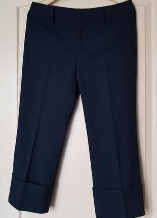 Брендовые топовые черные базовые брюки капри кюлоты палаццо штаны бермуды бриджи
