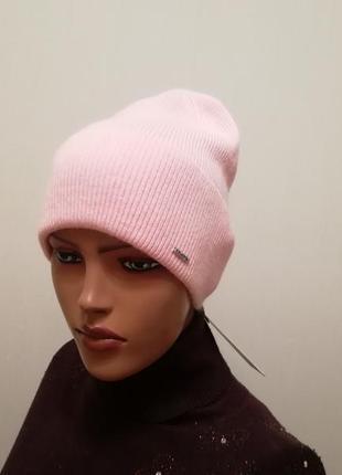 Демисезонная шапка качесво супер 56-58 пудра