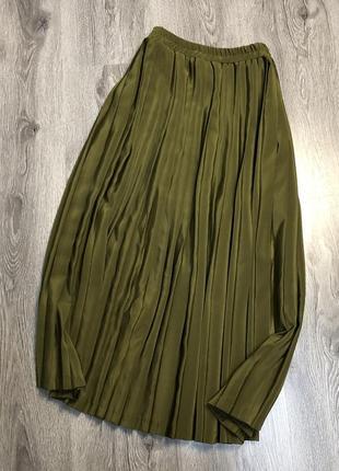 Плиссированная юбка миди daniel duval