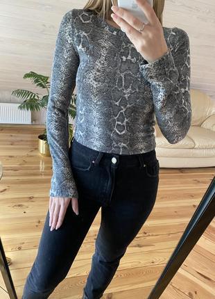 Тёплый свитер zara животный принт