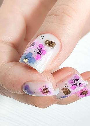 Молочный гель для наращивания ногтей