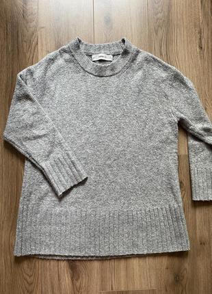 Шерстяной оверсайз свитер zara