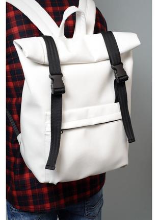 Білий рюкзак sambag roll екошкіра унісекс