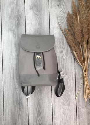 Azzaro рюкзак фирменный городской стильный серый очень вместительный новый
