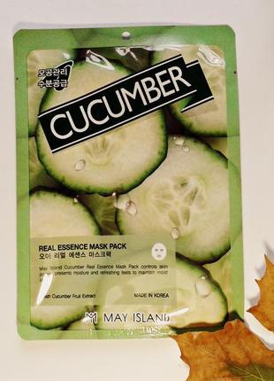 Тканевая маска для лица may island cucumber