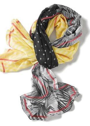 Изумительно стильный, воздушный, тонкий, приятный шарф палантин tchibo, германия