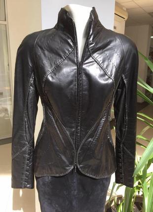 Harmanli кожаная классическая куртка