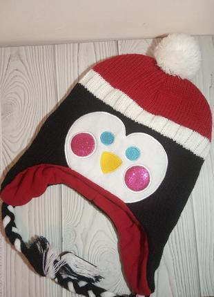 Шапка новогодняя 🐧 пингвин