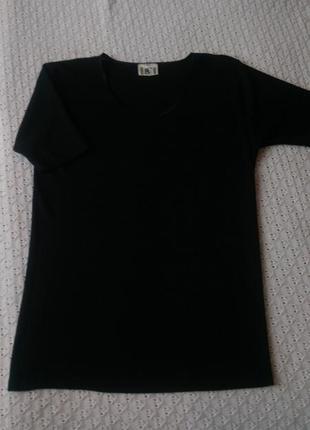 Термо футболка з шерсті і шовку чорна термобілизна поддева термобелье шерстяное