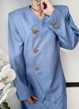 Kasper нереально крутой винтажный костюм классический пиджак юбка винтаж
