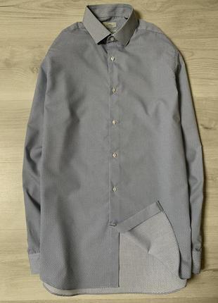 Чоловіча приталена сорочка від next shirting regular