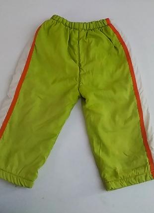 Яркие демисезонные штаны на флисе