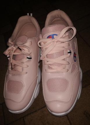 Розовые кроссовки 2 модели последние размеры 36-38