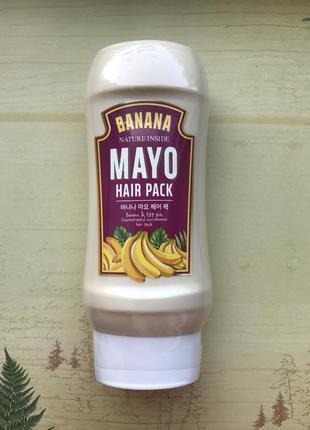 Маска для волос с бананом welcos kwailnara banana mayo hair pack, 250 мл