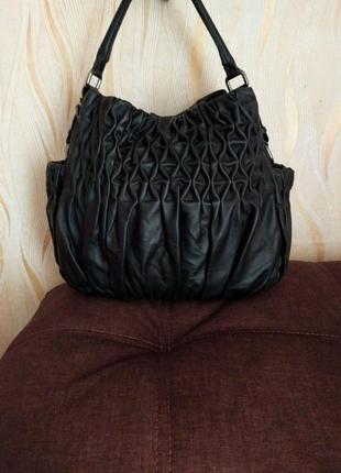 Большая кожаная сумка vince camuto
