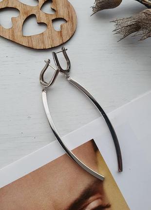 Серьги-палочки, серебро 925, италия
