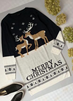 Новогоднее вязаное платье свитер от esmara