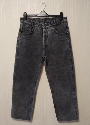 Качественные плотные котоновые джинсы момы высокая посадка mash italy.