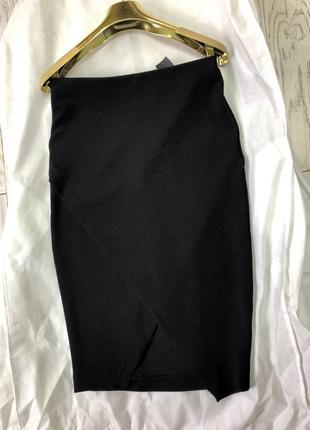 Чорна спідниця-олівець h&m