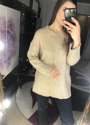 Свитер zara knit шерстяной свитер
