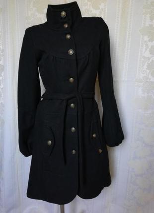 Шерстяное пальто классика maison scotch